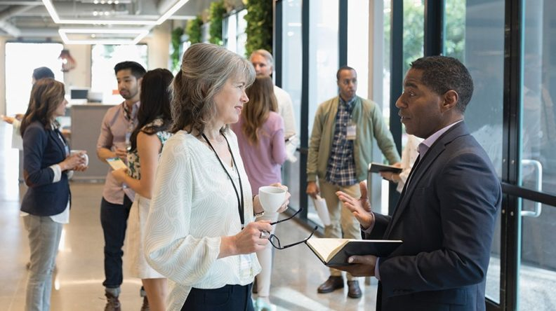 Business People Networking at a Conference