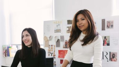 two female entrepreneurs in their office