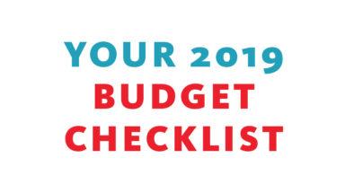 2019 budget checklist