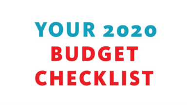Your 2020 Budget Checklist