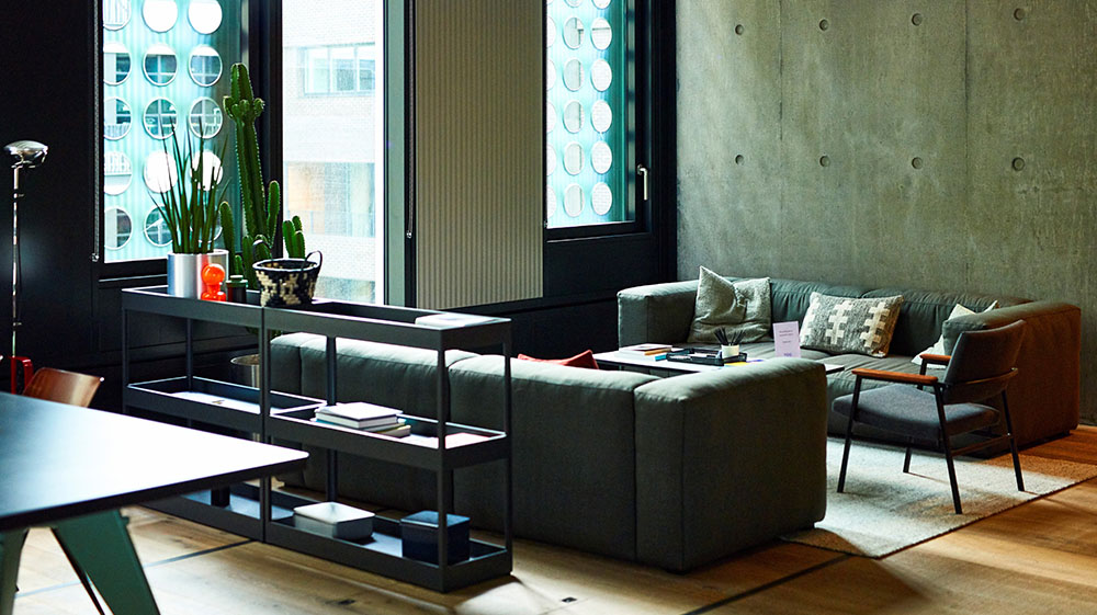 Couches and a table