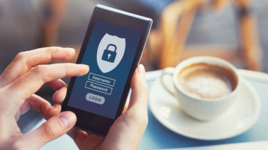 Cyber security software on a mobile device